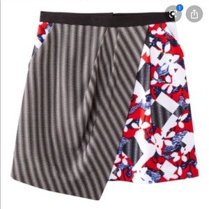 Peter Pilotto Target Floral Red  Checked Skirt 14